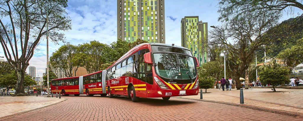 TransMilenio Buses in Bogota