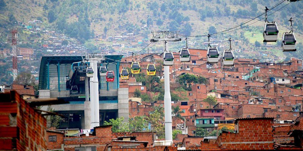 Medellin Metrocable in Columbia